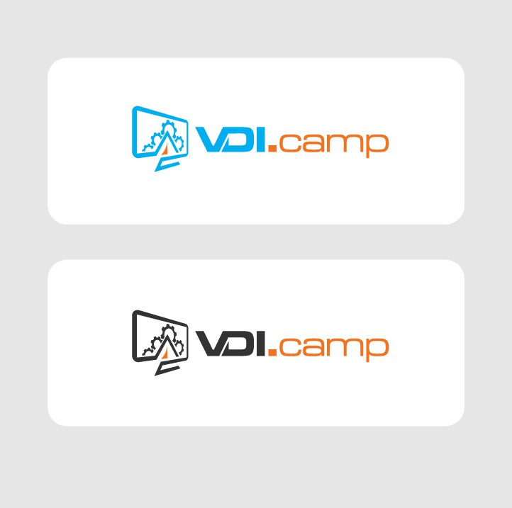 Create a product logo for company VDI Space of cloud services capturing a camp feel for cloud services