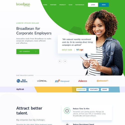 Modern SaaS B2B website design needed for large technology brand with dated B2B website