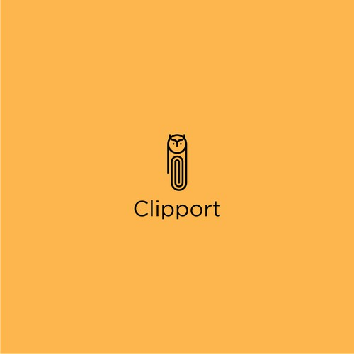 Clipport a logo that combines clips and owls a logo that combines clips and owls