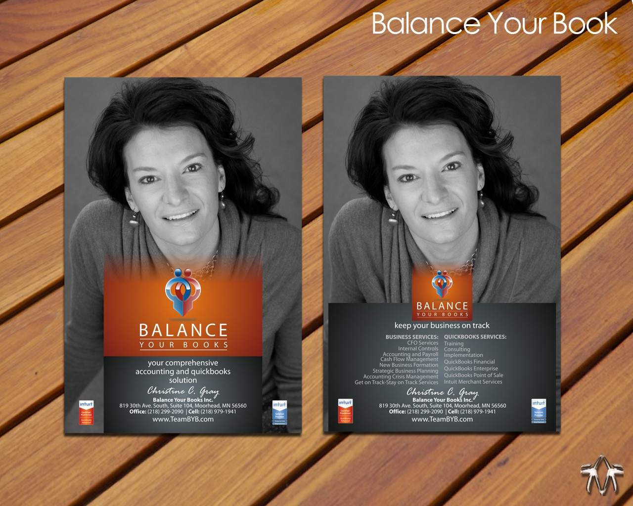 Create the next stationery for Balance Your Books Inc.