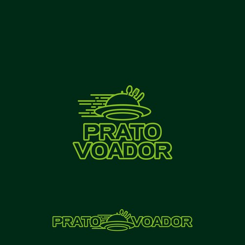 Prato Voador, Food Delivery Logo
