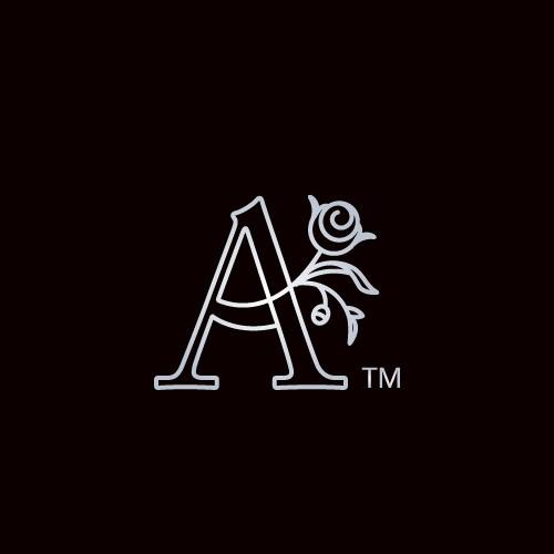 letter A floral logo