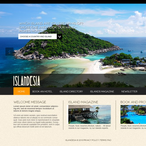 Island hotels needs a new website design