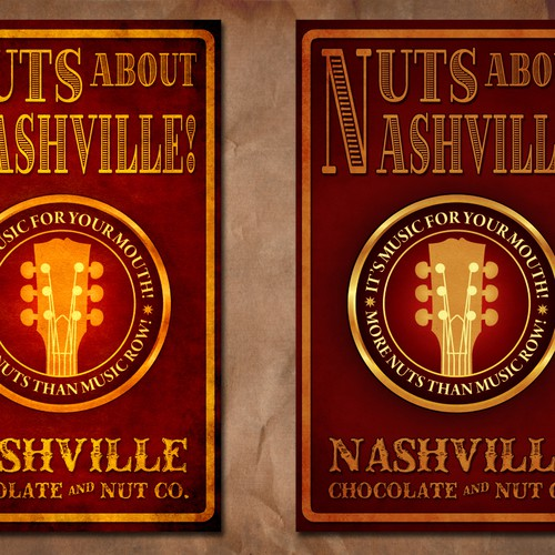 "Design our ""Nuts about Nashville!"" Gourmet Nut Mix product label, ongoing work!"