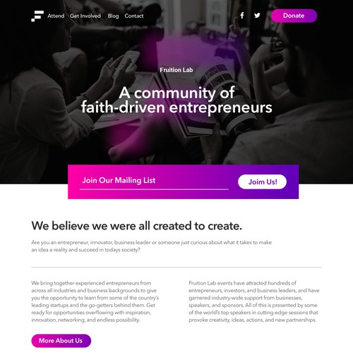 Web design for Faith-driven entrepreneurs
