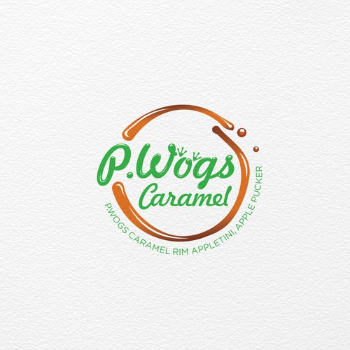 Logo design for P.Wogs Caramel