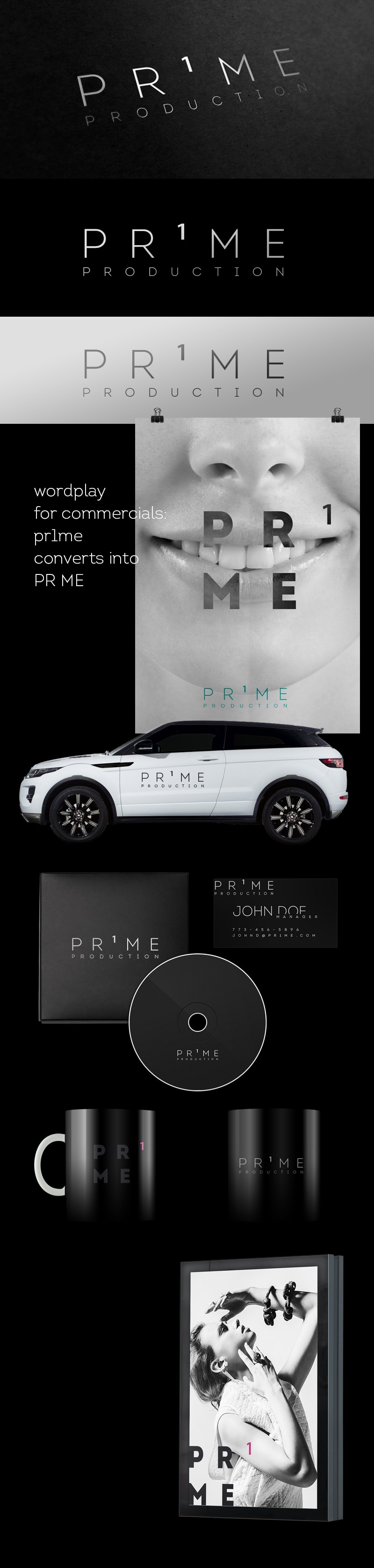 Creative Media Agency in Zurich: Prime Production- Logo and Stationary