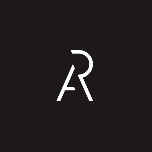 AR modern monogram