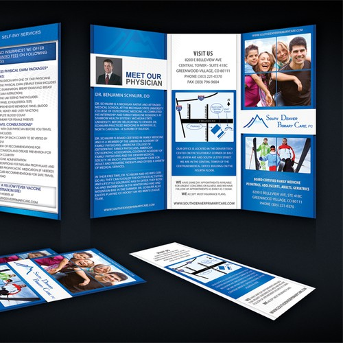 Create the next brochure design for South Denver Primary Care
