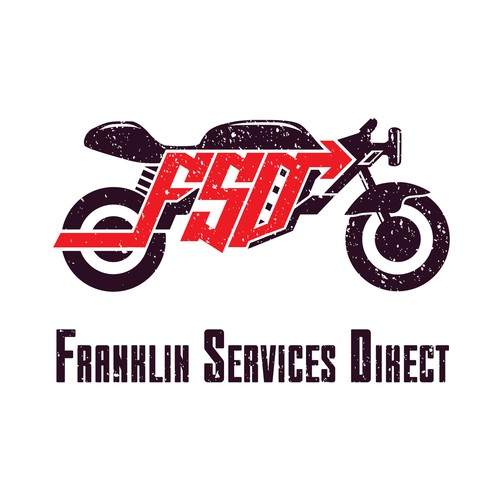 Weathered logo for bike service