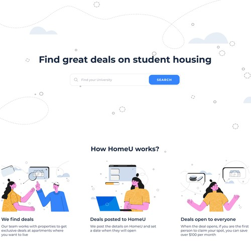 Illustration for the housing search platform