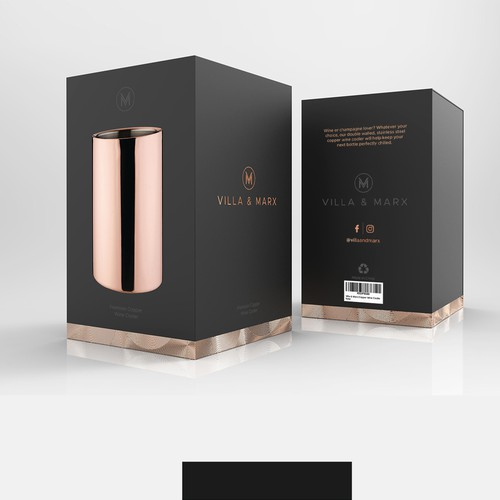 PACKAGING DESIGN for a premium wine cooler product