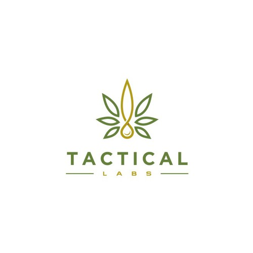 Modern logo for Tactical Labs, a cannabis company