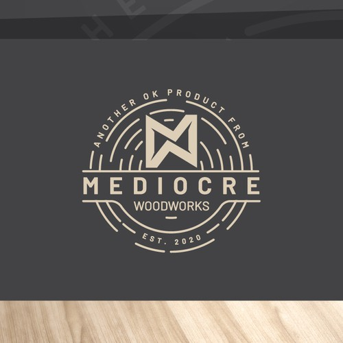 logo for MEDIOCRE WOODWORKS