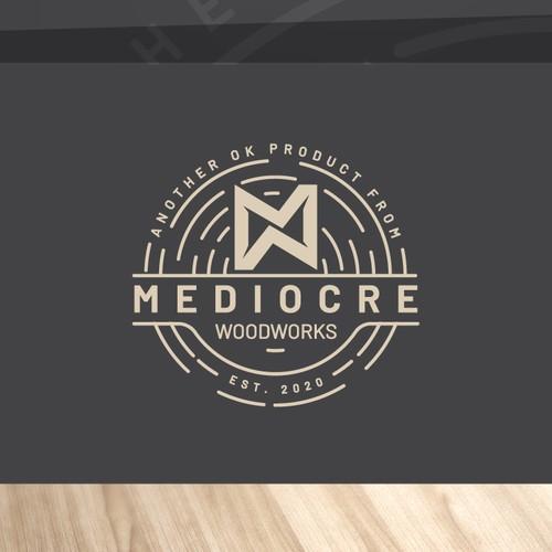 logo for MEDIOCRE WOODWORKS
