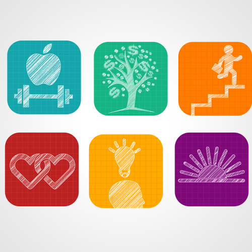 Need 6 Icons for my website - Blind contest - Possible more work for winners or runners-up.