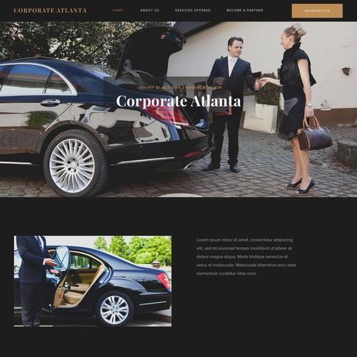 Luxury black car transportation