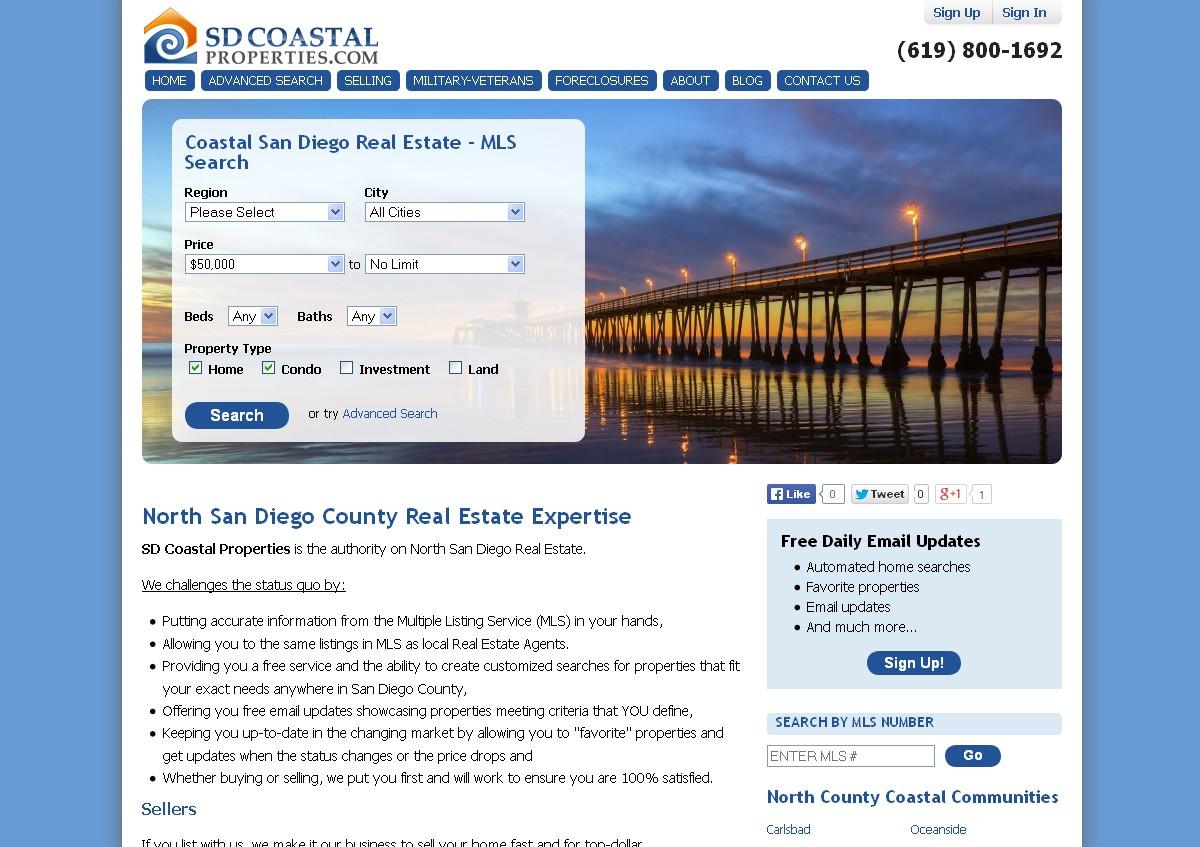 Create a Clean Modern design for a Coastal Real Estate Company!