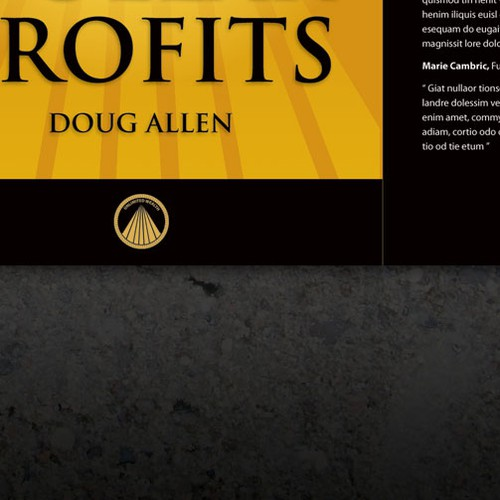Book cover design for Million Dollar Profits by Doug Allen