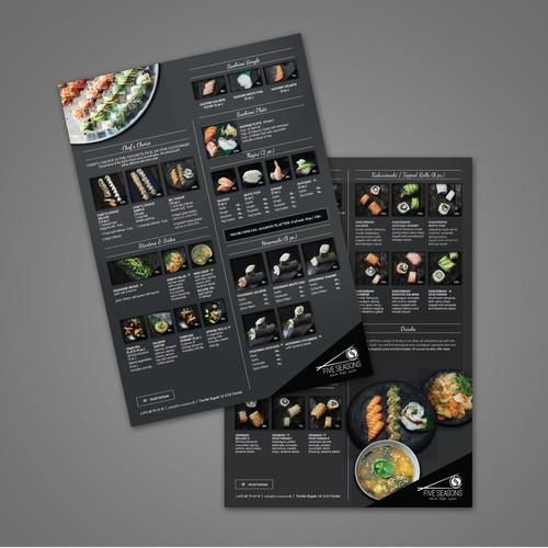 Menu Design for Sushi Restaurant