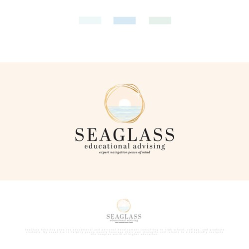 Serene and clean concept for small educational company