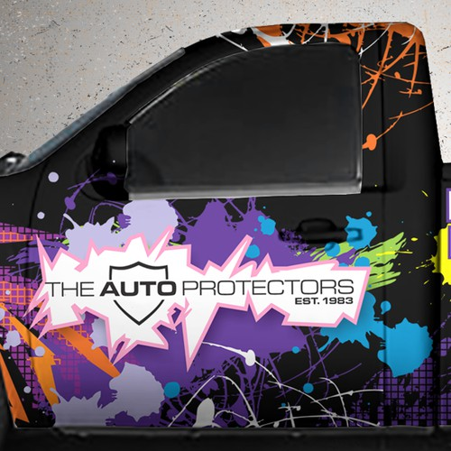The Auto Protectors needs a crazy, colorful, eye catching truck wrap!