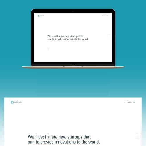 "Web design for venture capital firm ""catapult"""
