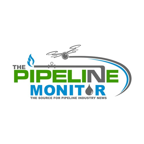 A UNIQUE LOGO FOR A PIPELINE NEWS REPORTING COMPANY