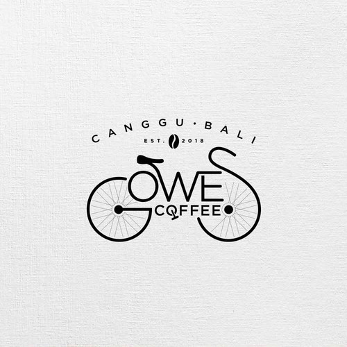 Modern classic logo for GOWES coffee shop in Canggu Bali