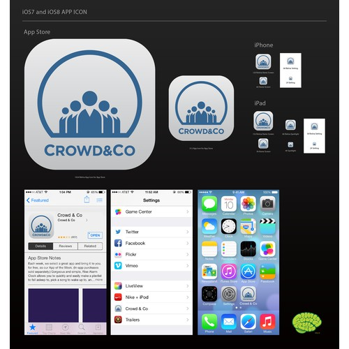 Icon for our new legal services marketplace (Crowd & Co)