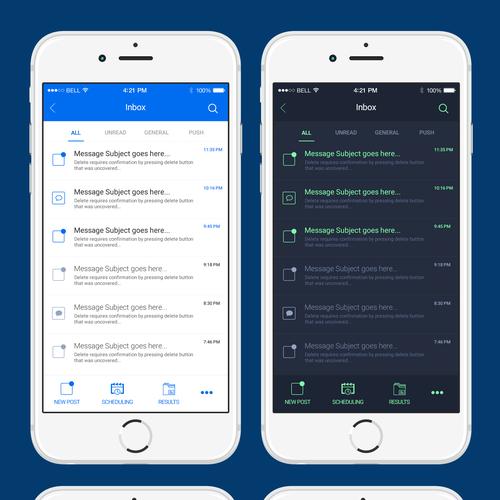 Inbox App Design Concept