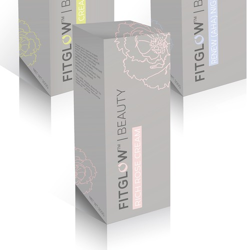 Cosmetic Packaging for FitGlow Beauty