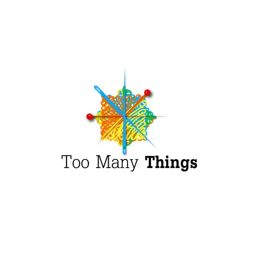 Too many things logo design concept