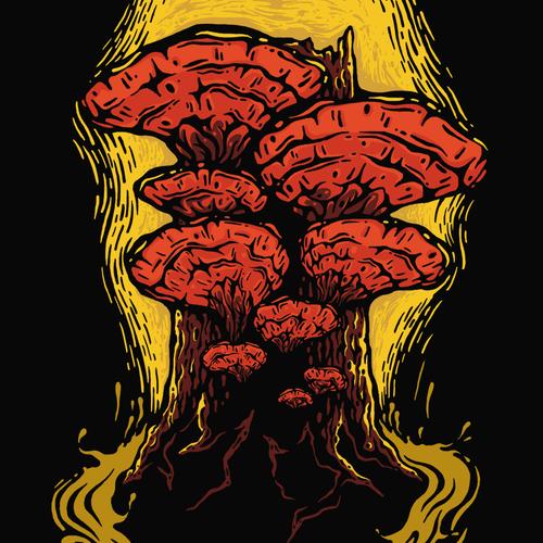 Reishi Mushroom T-shirt Design.