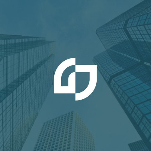 GJ abstract logo concept.