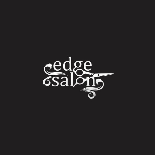 logo concept for Edge salon.