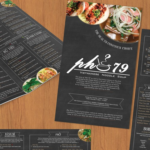 Hip & modern menu design with a bit of tradition.