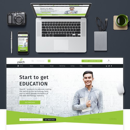 Landing page online education