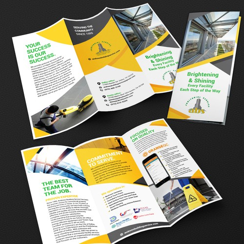 Brochure for Janitorial company
