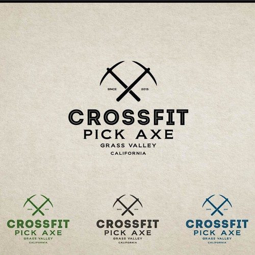 Create a quality logo that illustrates the history of grass valley while incorporating CrossFit Methodologies