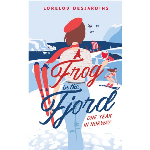 Cover for a funny book about a French in Norway