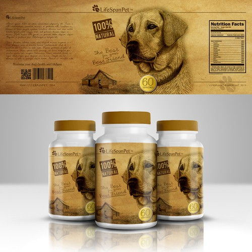 Create the next product label for LifeSpan Pet