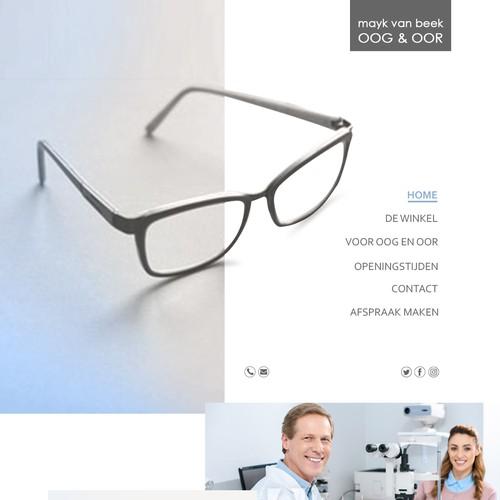 website Layout Opticien