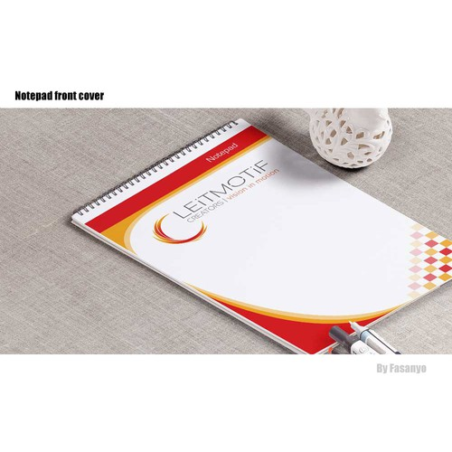 Notepad cover concept for Leimotif