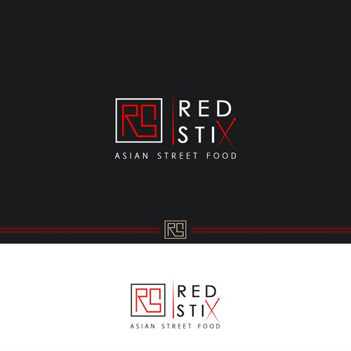 Logo concept for asian street food