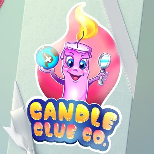 Funny character for candle