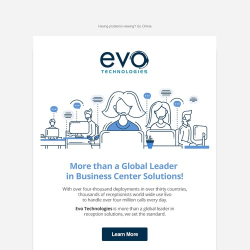 Email Template for Evo Technologies