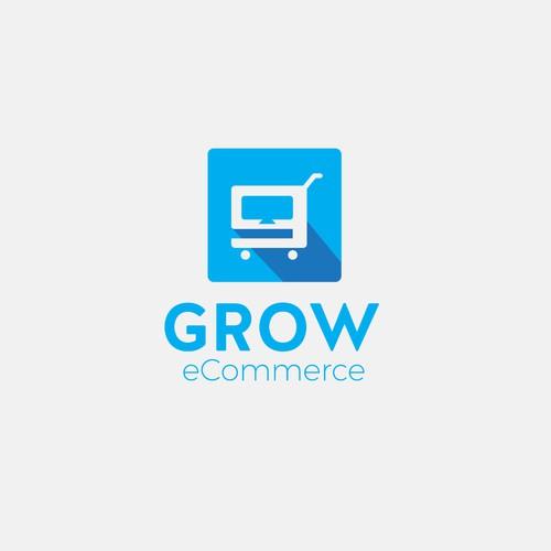 Grow eCommerce logo design