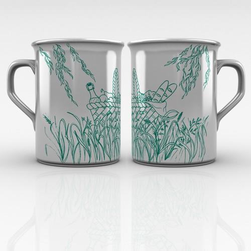 Elegant picnic theme cup design