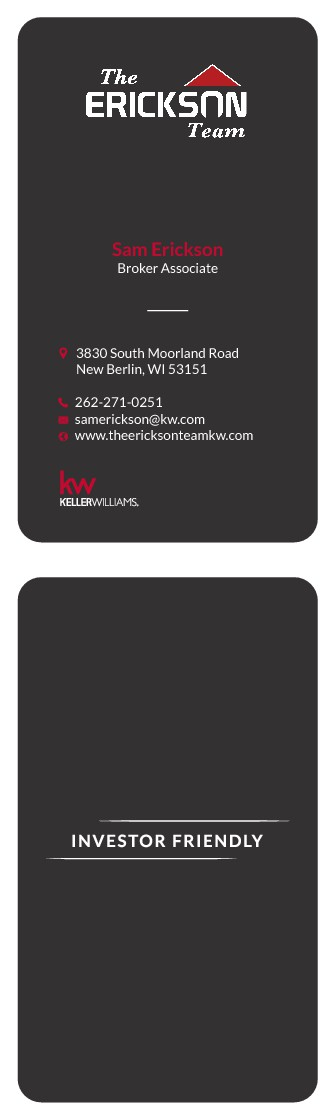 Young Real Estate Team needs updated Business cards